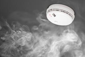 Smoke Detector and Smoke on Ceiling